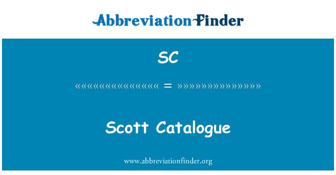 SC: Scott Catalogue