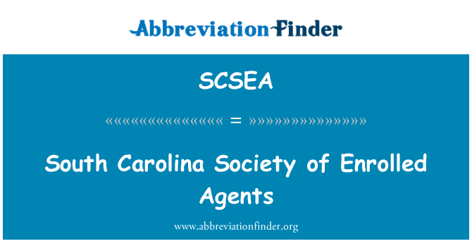 SCSEA: South Carolina Society of Enrolled Agents