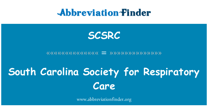 SCSRC: South Carolina Society for Respiratory Care