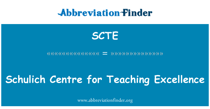SCTE: Schulich Centre for Teaching Excellence