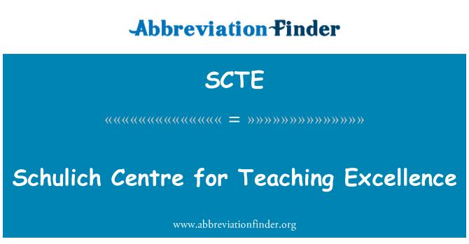 SCTE: Schulich centro de excelencia en la enseñanza
