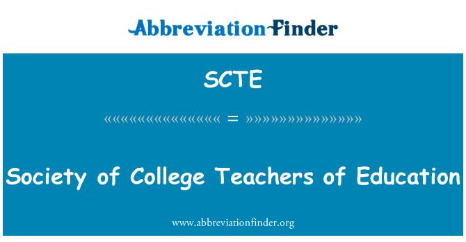 SCTE: Sociedad del Colegio de profesores de educación