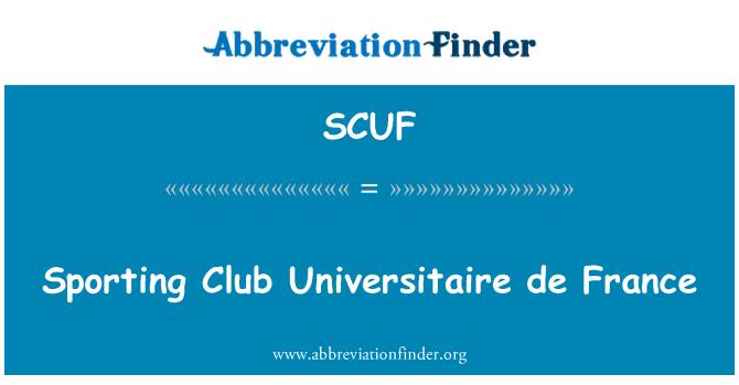 SCUF: Club Deportivo Universitaire de France