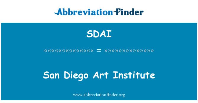 SDAI: San Diego Sanat Enstitüsü