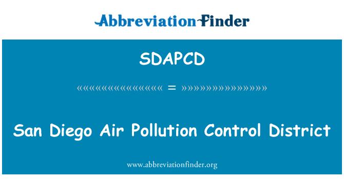 SDAPCD: San Diego Air Pollution Control District