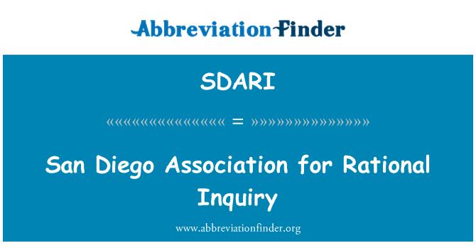 SDARI: San Diego Association for Rational Inquiry
