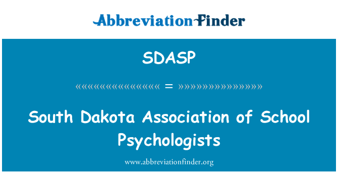 SDASP: South Dakota Association of School Psychologists