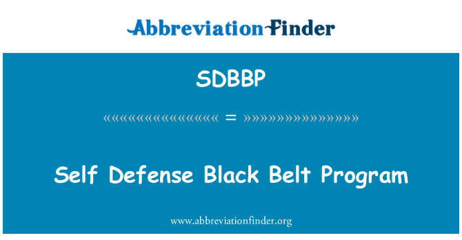 SDBBP: Self Defense Black Belt Program