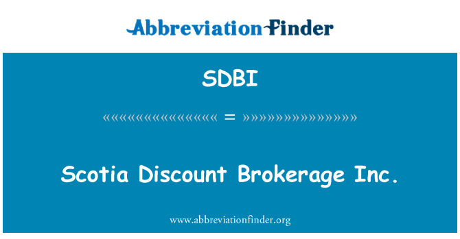 SDBI: Scotia bolsa descuento Inc.