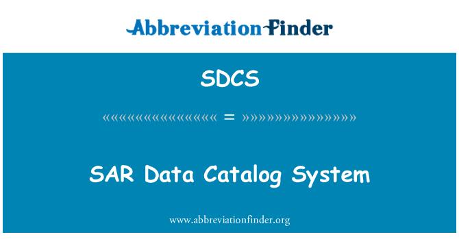 SDCS: Sistem katalog SAR Data