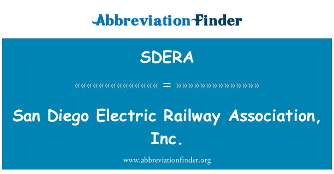 SDERA: San Diego Electric Railway Association, Inc.
