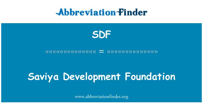 SDF: Saviya Development Foundation