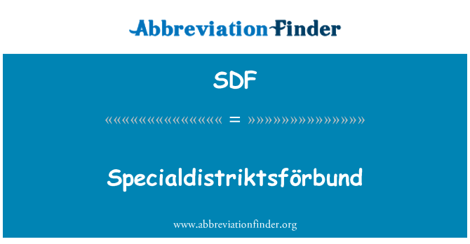 SDF: Specialdistriktsförbund