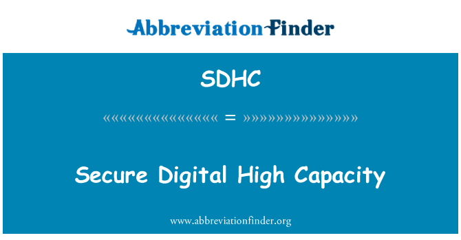SDHC: Güvenli Digital yüksek kapasite
