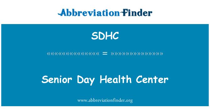 SDHC: Kıdemli günü Sağlık Merkezi