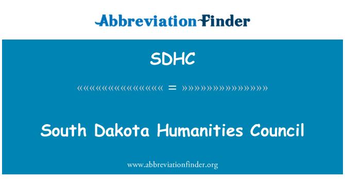 SDHC: Güney Dakota beşeri bilim Konseyi