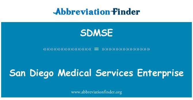 SDMSE: San Diego Medical Services Enterprise