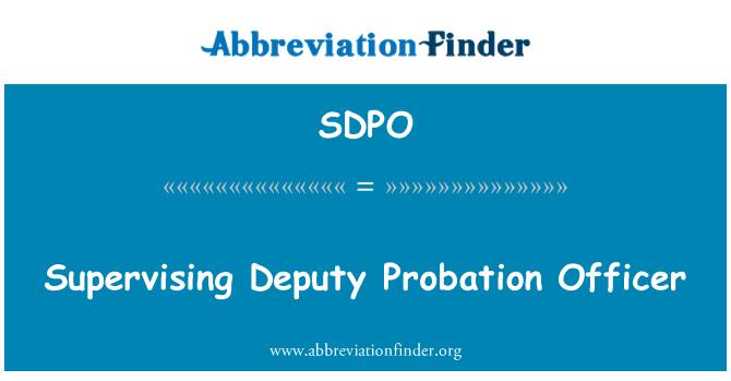 SDPO: Şerif Yardımcısı gözetim memuru denetliyor