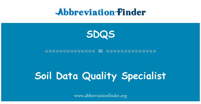 SDQS: Soil Data Quality Specialist