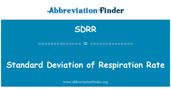 SDRR: Solunum hızı standart sapması