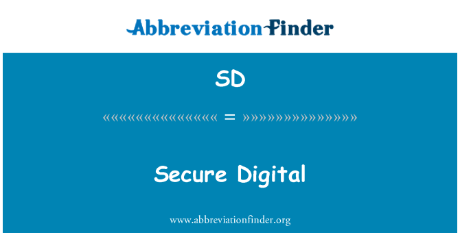 SD: Secure Digital