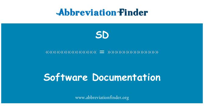 SD: Software Documentation