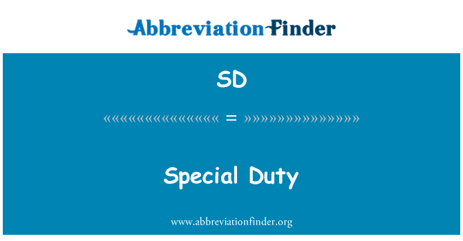 SD: Special Duty