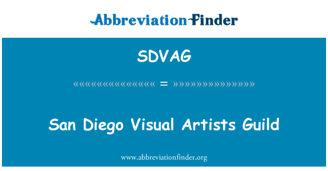 SDVAG: San Diego Visual Artists Guild