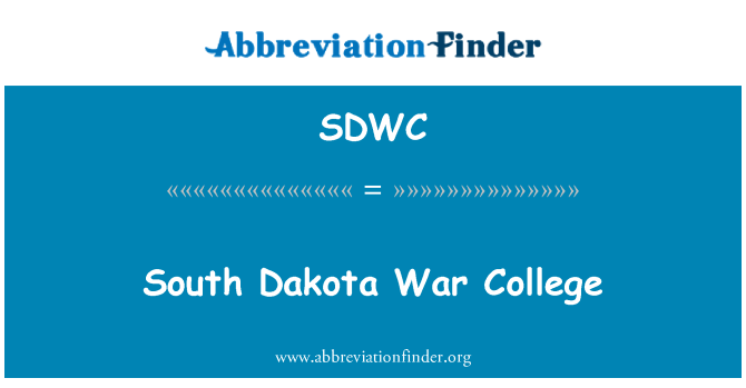 SDWC: Escuela superior de guerra de Dakota del sur