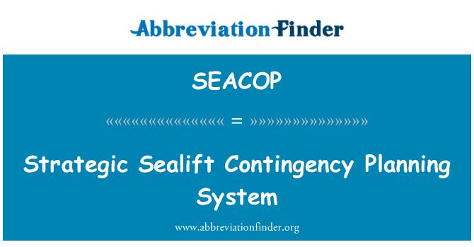 SEACOP: Strategik (Military sealift) kontingensi sistem