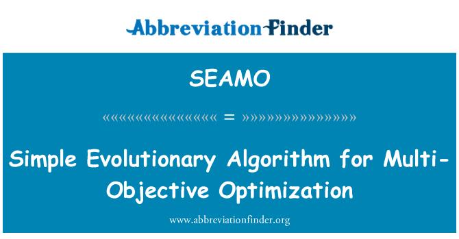 SEAMO: Simple Evolutionary Algorithm for Multi-Objective Optimization