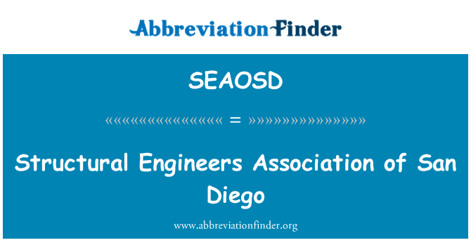 SEAOSD: Structural Engineers Association of San Diego