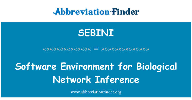 SEBINI: Software Environment for Biological Network Inference