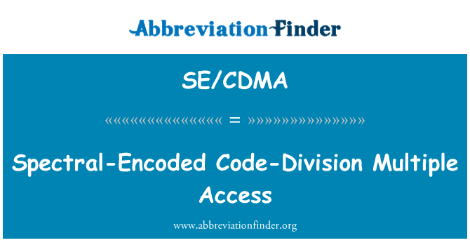 SE/CDMA: Spectral-Encoded Code-Division Multiple Access