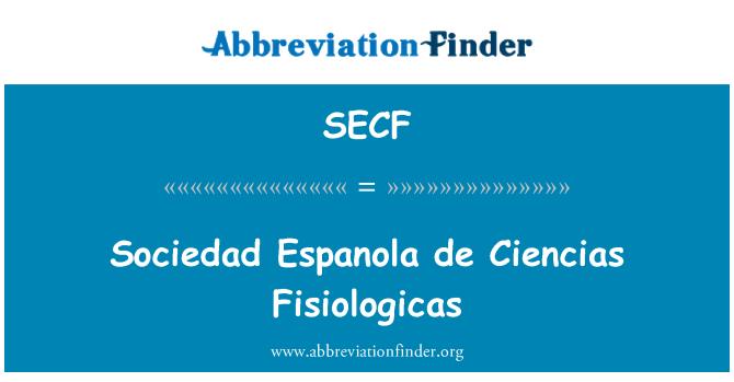 SECF: Sociedad Española de Ciencias Fisiologicas