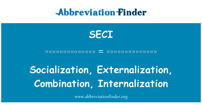 SECI: Sotsialiseerumine, hajutamise, koos internaliseerimisega