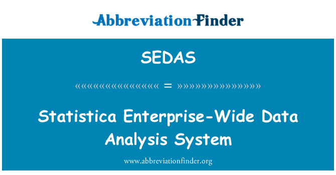 SEDAS: Sistema de análisis de datos Statistica empresarial