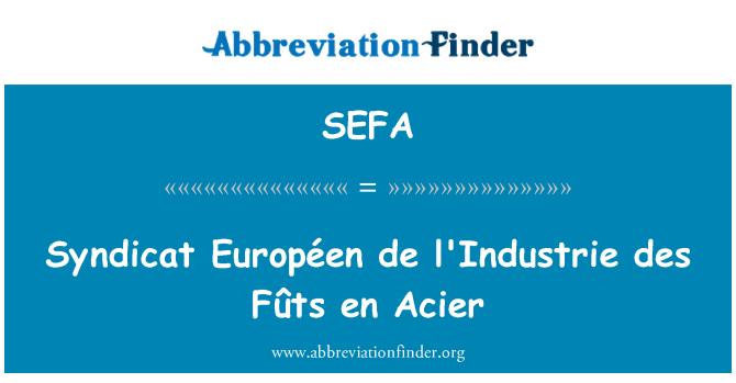 SEFA: Syndicat Européen de l'Industrie des Fûts en Acier