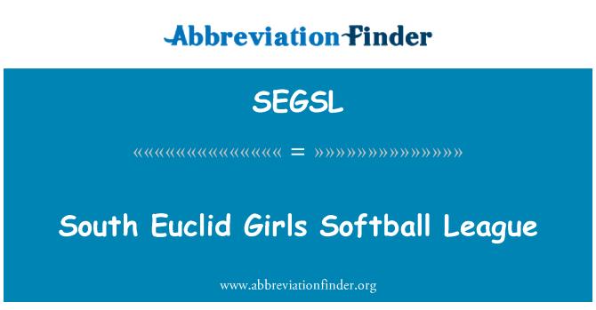SEGSL: South Euclid Girls Softball League