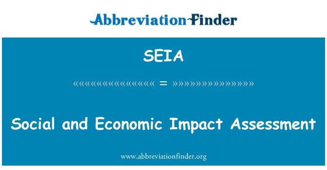 SEIA: Evaluación del impacto social y económico