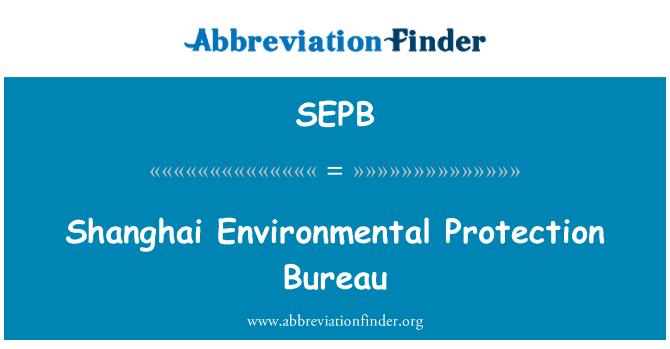 SEPB: Shanghai çevre koruma Bürosu