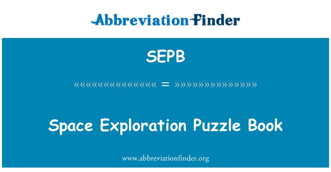 SEPB: Uzay keşif Puzzle kitap