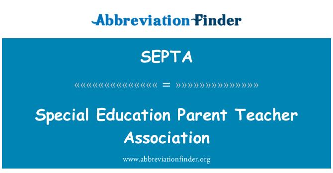 SEPTA: Educación especial Parent Teacher Association