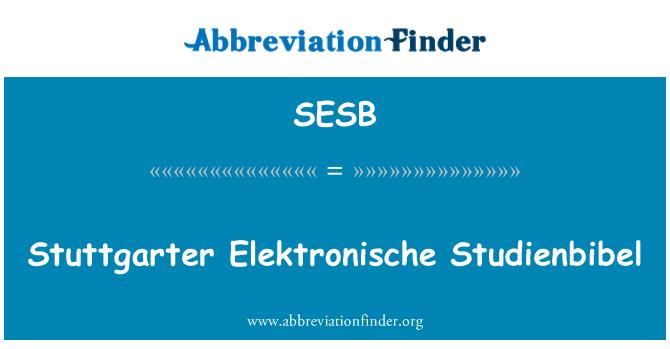 SESB: Stuttgarter Elektronische Studienbibel