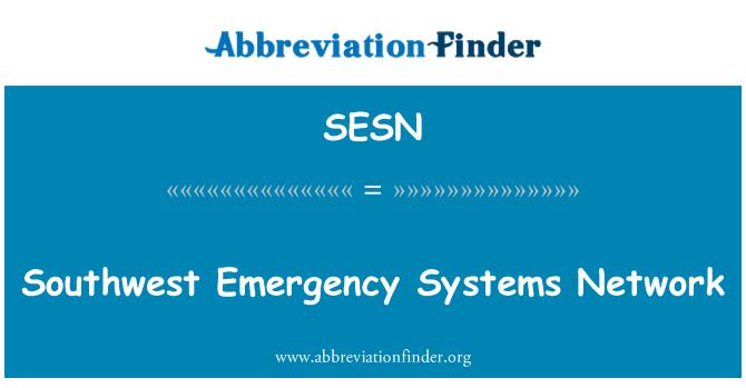 SESN: Red de sistemas de emergencia al suroeste