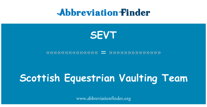 SEVT: Vaulting Ekuestrian Scotland pasukan