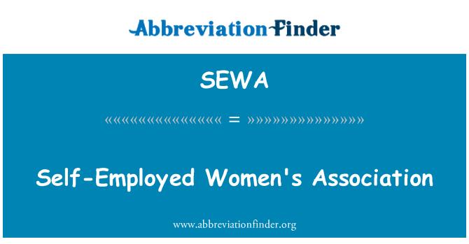 SEWA: Asociación de mujeres por cuenta propia