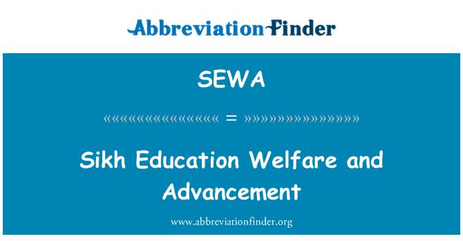 SEWA: Adelanto y bienestar de Sikh de la educación