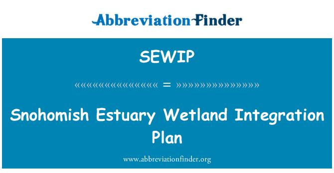 SEWIP: Plan de integración de humedal estuario Snohomish