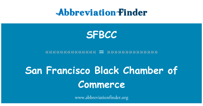 SFBCC: San Francisco 黑商会